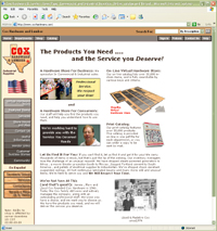 thumbnail image of Cox Hardware and Lumber Home Page